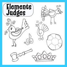 Clip Art Elements – Judges