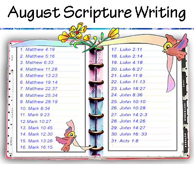 Scripture Writing – August