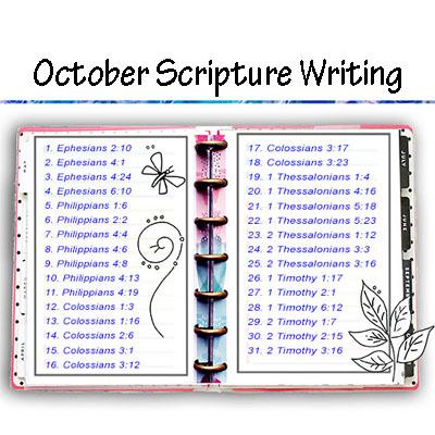 Scripture Writing – October