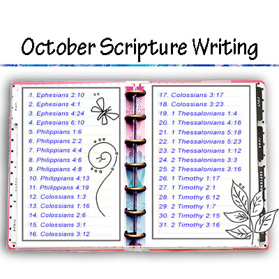 Scripture Writing – October