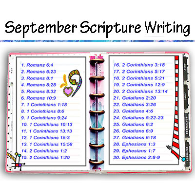 Scripture Writing – September