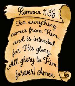 Romans 11:36