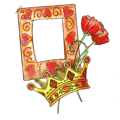 Picture Frame With Crown