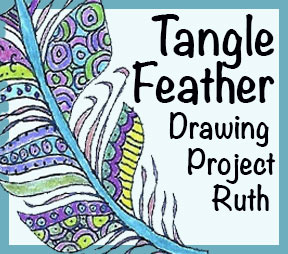 "Drawing Lesson ""Tangled Feather"""
