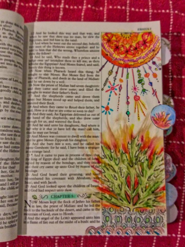 Elm Ex Burning Bush Stamp - Jackie Mattingly