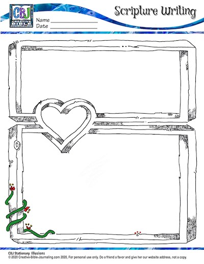 Scripture Writing Stationery A