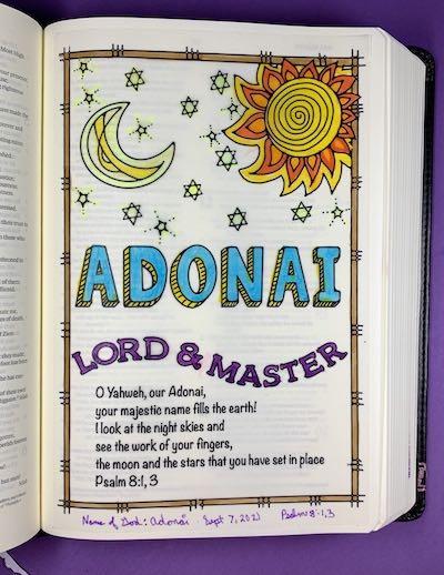 Name of God Adonai