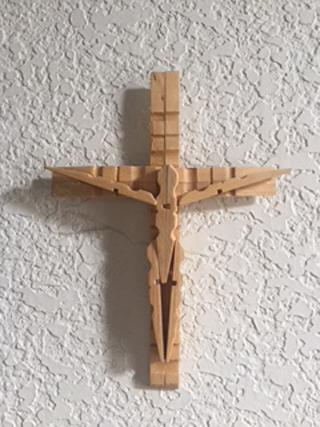 Photo of DIY Clothes Pin Crucifix