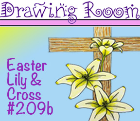 "Drawing Room #209b, ""Easter Lily Cross"""