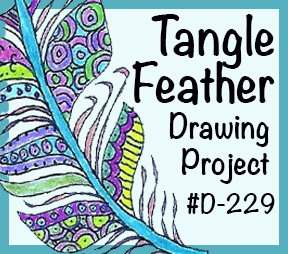 """Drawing Lesson #D-229, """"Tangle Feather"""""""