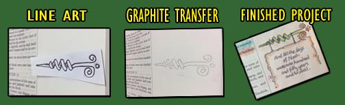 Graphite Transfer - Corkscrew Arrow