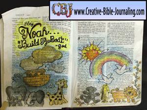 Jackie's Hey Noah, Build a Boat Bible Journaling