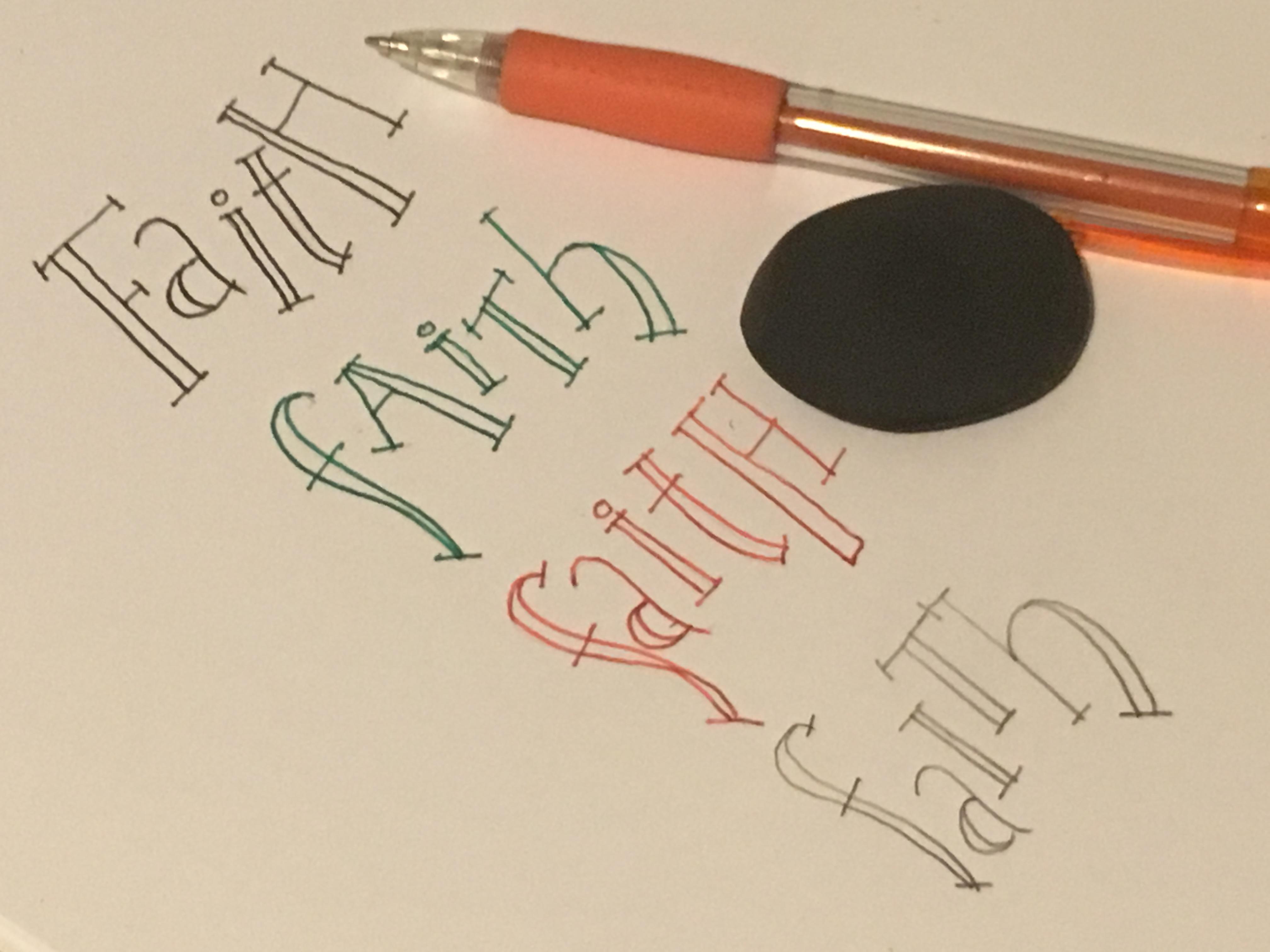 "CBJ Lettering #4, ""Faith"""