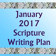 Start 2017 Off Write… Write One Verse a Day