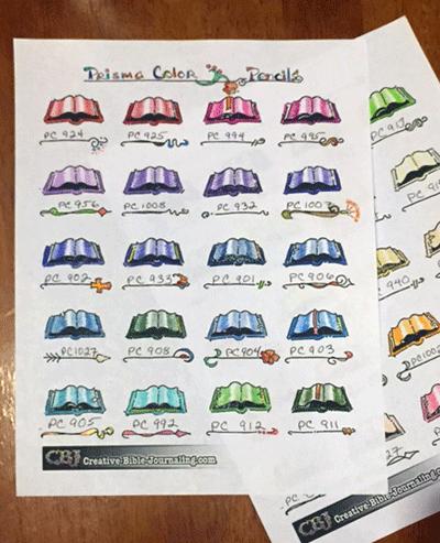 Prisma Color Pencil Color Chart Example