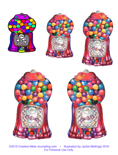 Illustration of Bubblegum Machine