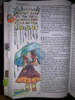 Umbrella Girl Page Jackie white