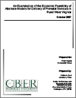 An Examination of Economic Feasibility of Alternate Models for Delivery of Prenatal Services in Rural West Virginia