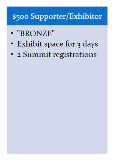BRONZE - Sponsors and Exhibitors