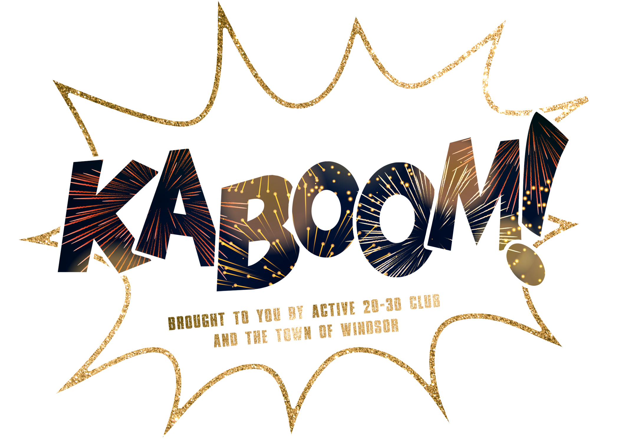Kaboom Logo with white