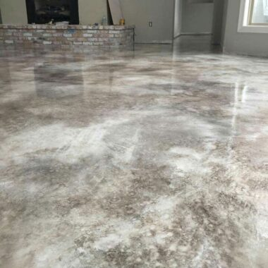 staned concrete floor colorado