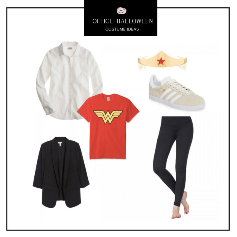 Easy Office Halloween Costumes Ideas featured by top US fashion blog, Never Without Lipstick: Wonder Woman | office halloween costumes ideas, easy halloween costumes, quick halloween costumes, work halloween costumes, wonder woman costume easy