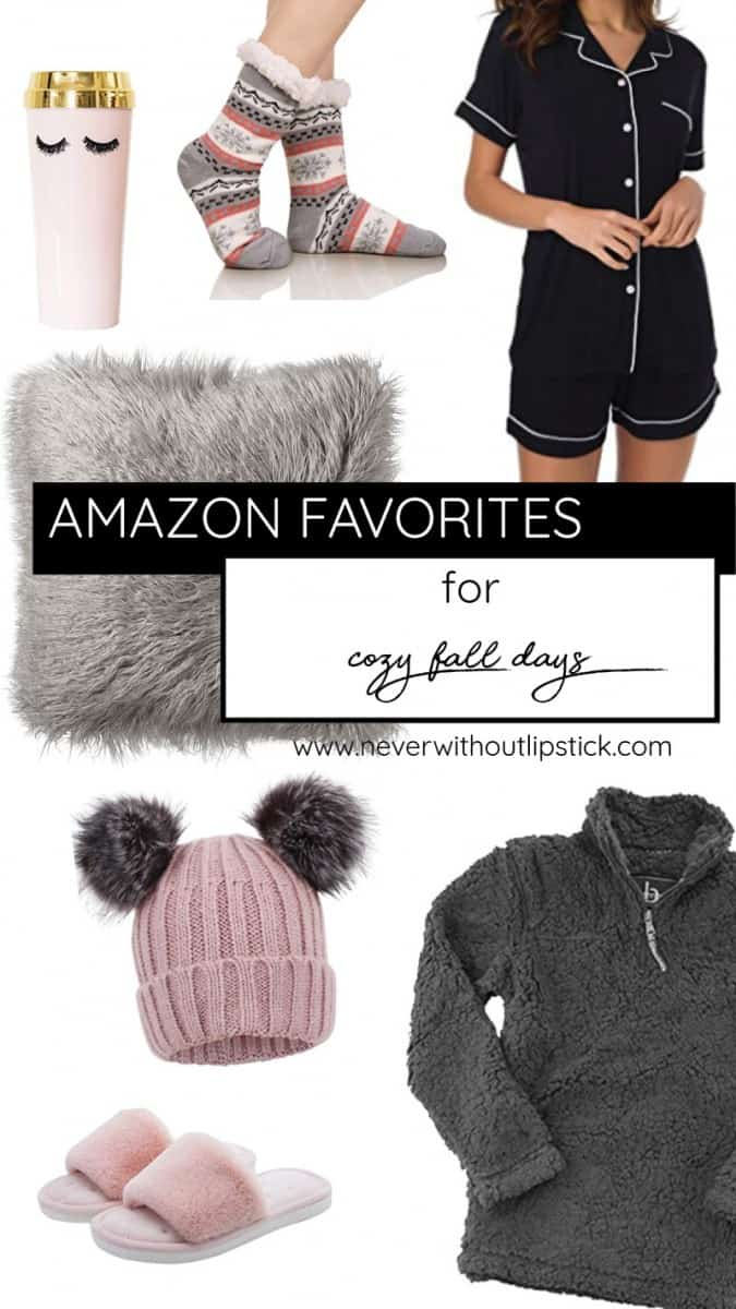 Popular Dallas life and style blogger, Never Without Lipstick, shares her affordable Amazon Favorites for your cozy fall days and nights | cozy home, cozy outfits, amazon finds, amazon things to buy on | | 20 Cozy Amazon Favorites under $40 for Fall featured by top Dallas fashion blog, Never Without Lipstick