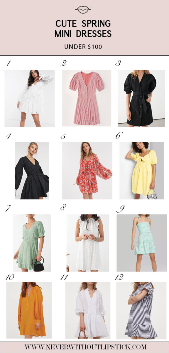 Cute Spring Dresses under $100 featured by top Dallas fashion blog, Never Without Lipstick
