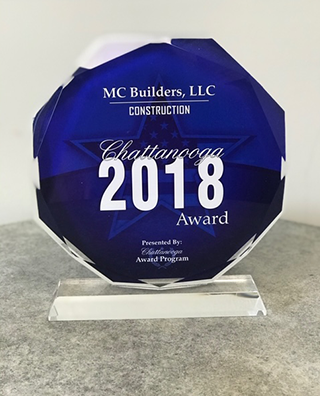 Chattanooga Top Construction Co Award 2018