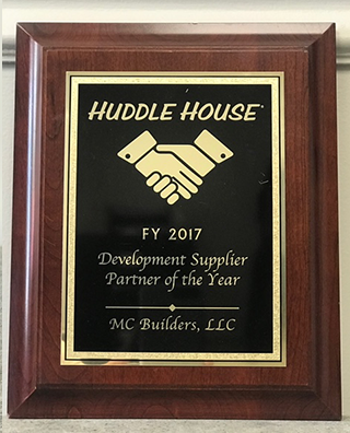Huddle House Development Supplier Of The Year 2017