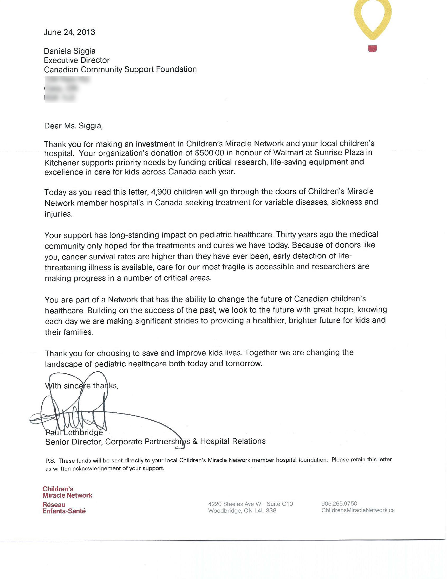 Thank You For Your Support Letter from secureservercdn.net