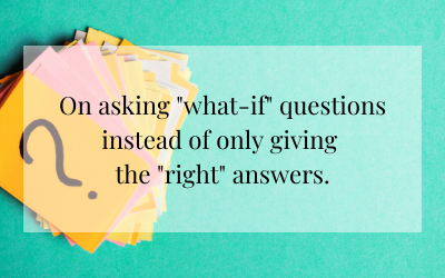"""Asking """"what-if"""" questions"""