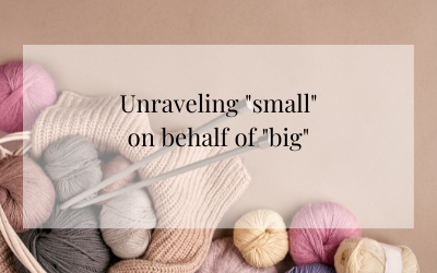 """Unraveling """"small"""" on behalf of """"big"""""""