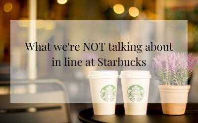 In line at Starbucks…