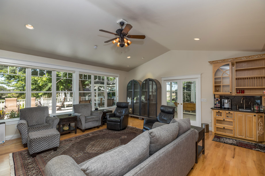 Family Room with Windows 2
