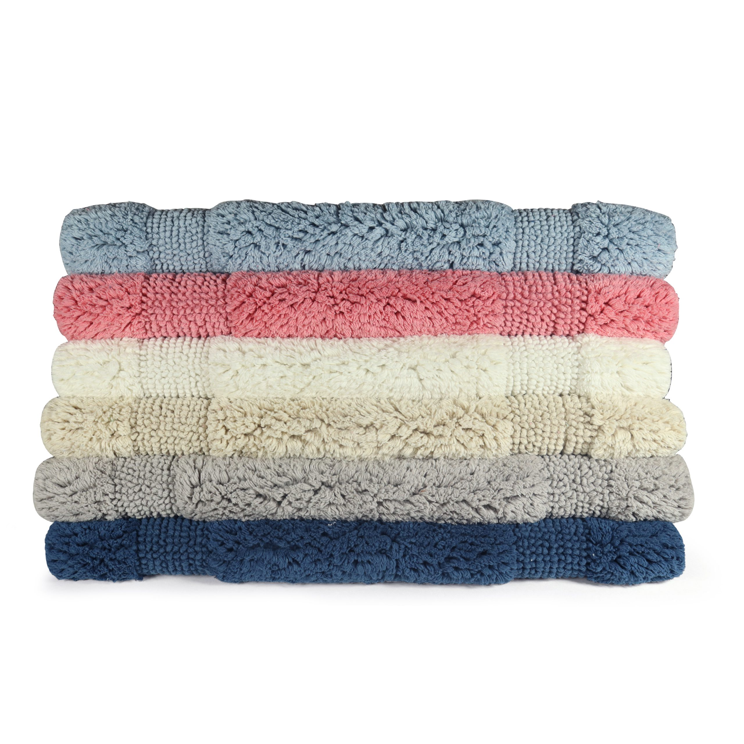 Provence Striped Bath Rugs