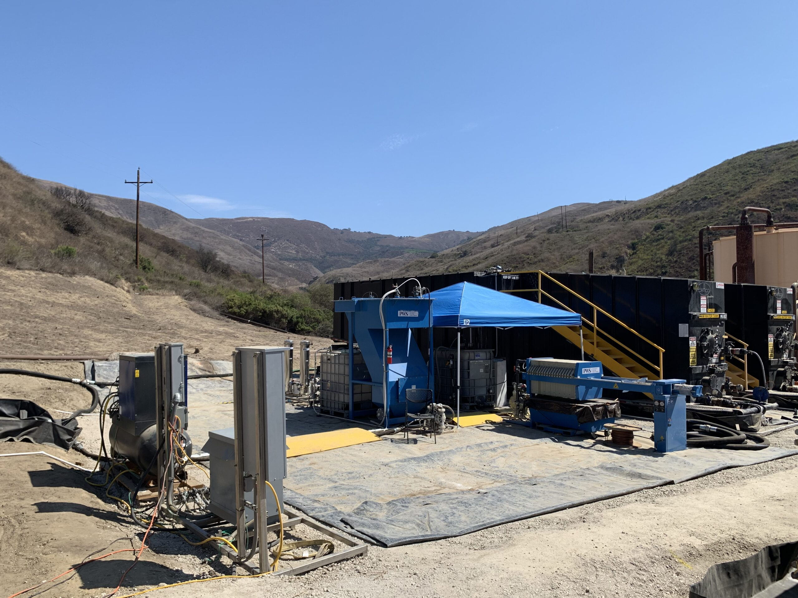 Project: Design, build and operate a high oil and suspended solids oilfield wastewater treatment process