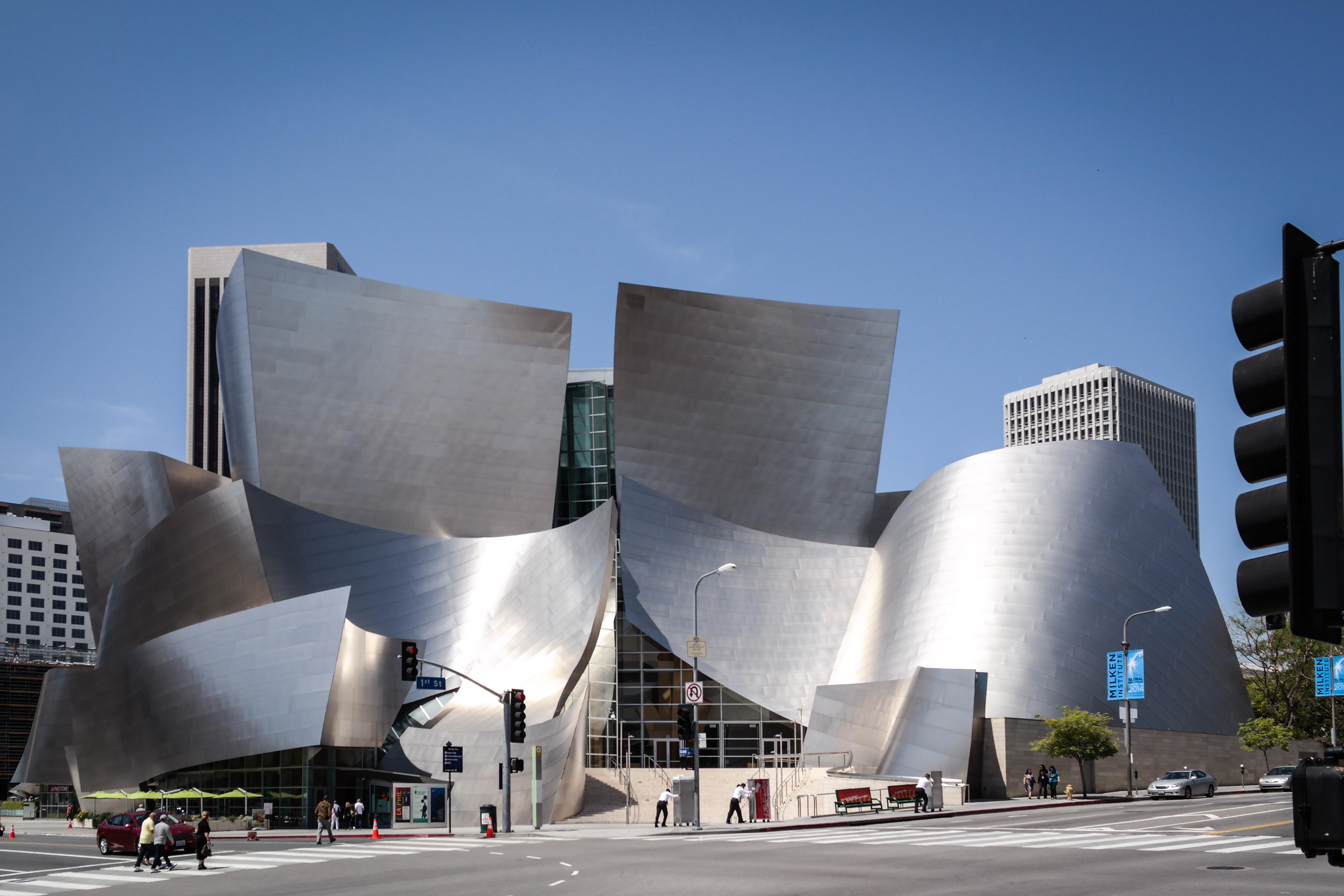 the Walt Disney Concert Hall in Los Angeles CA