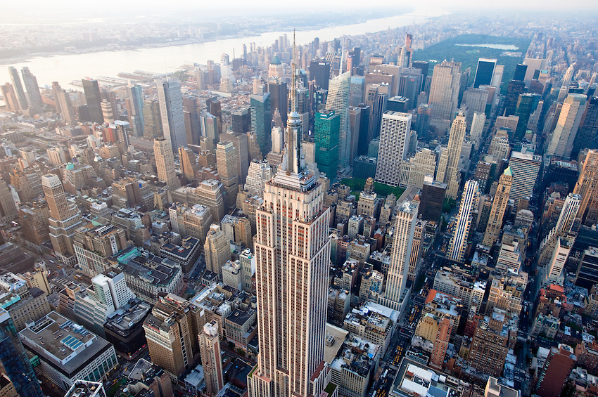 the geologic history of Manhattan Island. NYC skyline