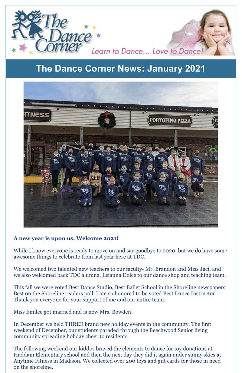 The Dance Corner 2021 January 2021