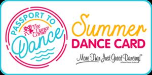 The Dance Corner Summer Dance Card