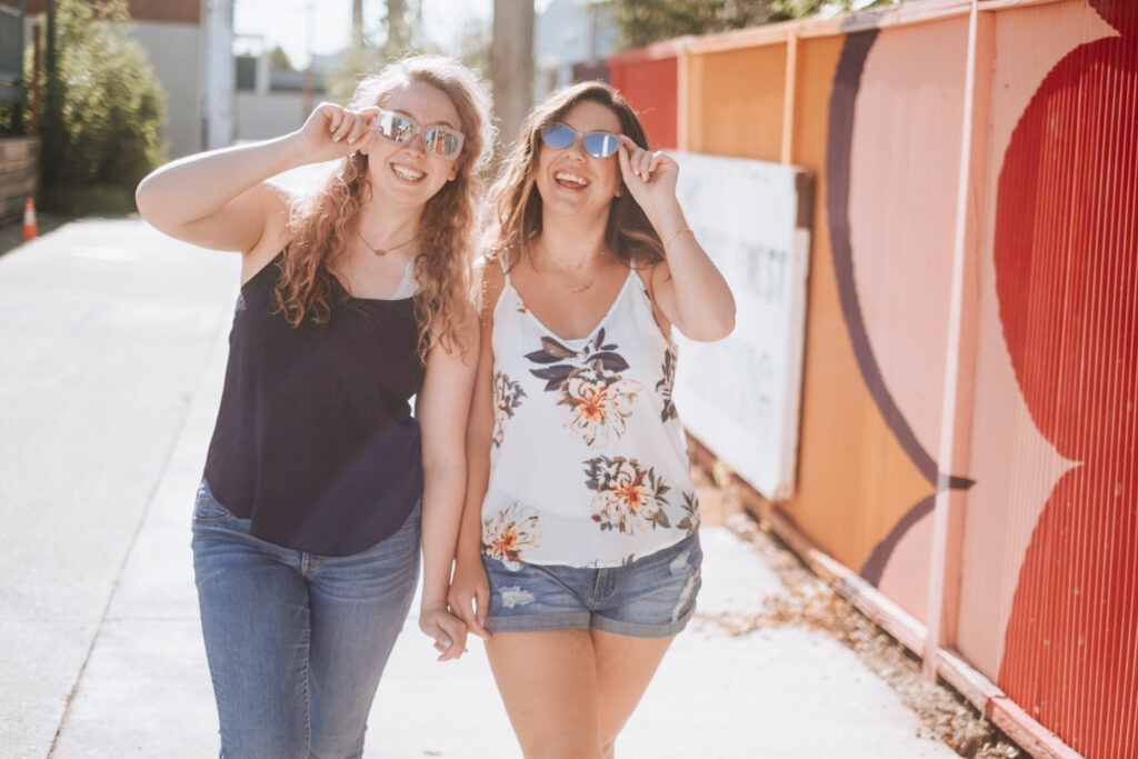 Cassie and Chelsea