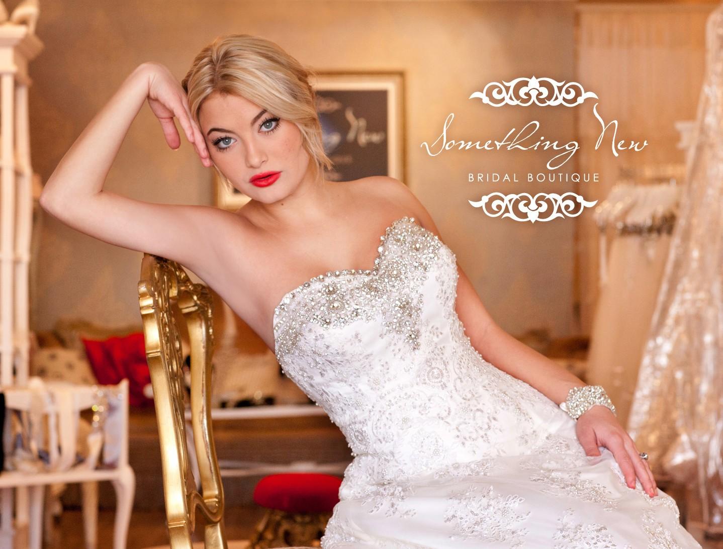 beautiful bride in a dress
