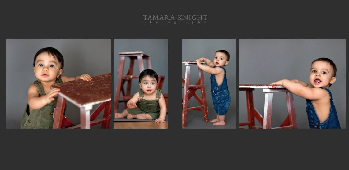 A year old twins shoot by Orlando photographer