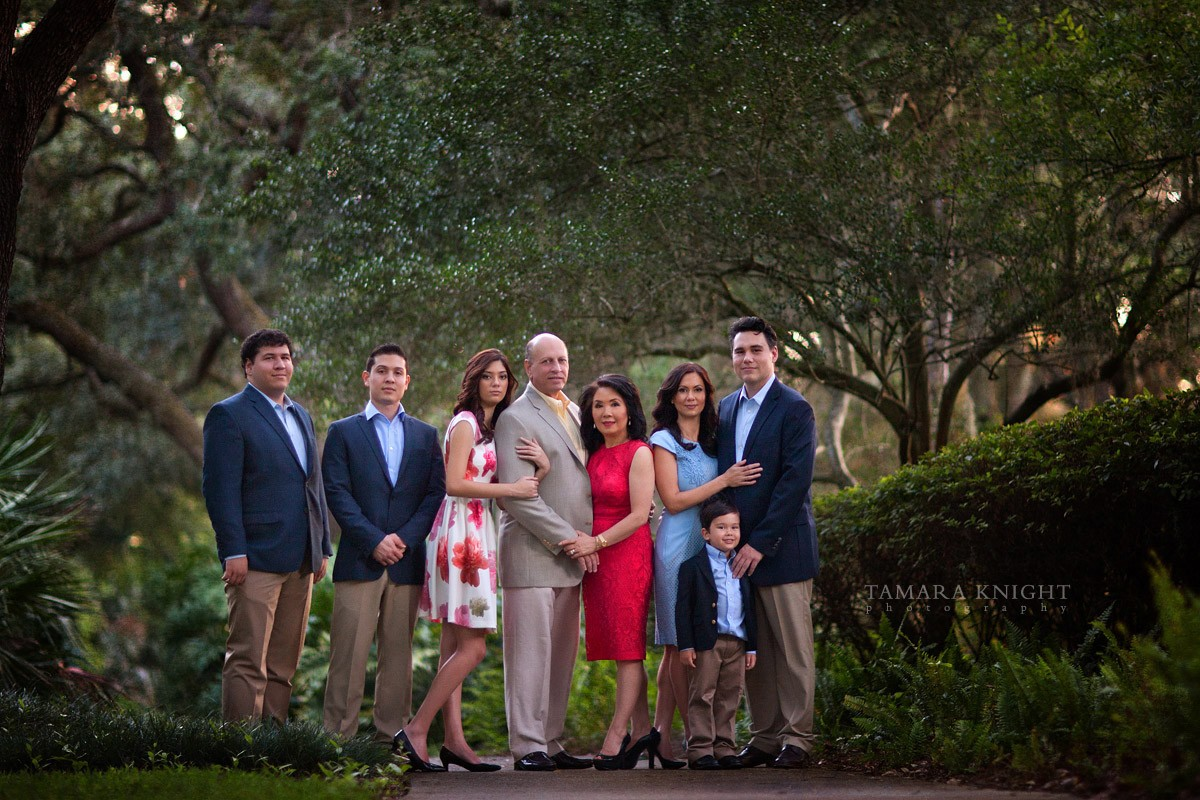 A beautiful family - traditional classic portrait by Orlando family photographer
