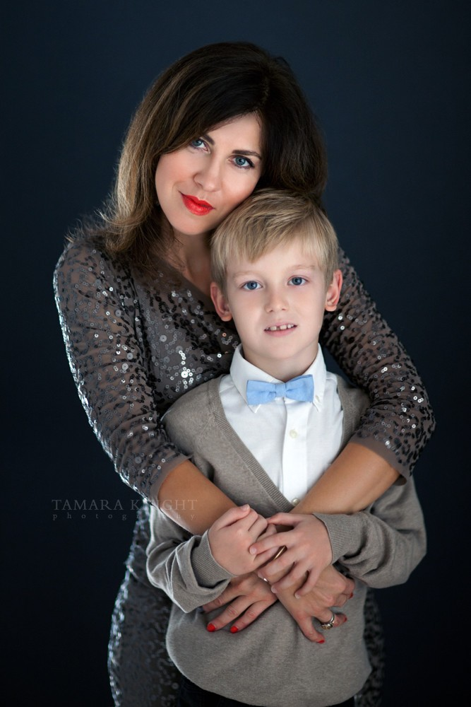 Mom and son portrait by Orlando photographer