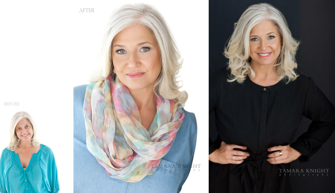 Beautiful lady with grey silver hair - a portrait done by Orlando beauty photographer