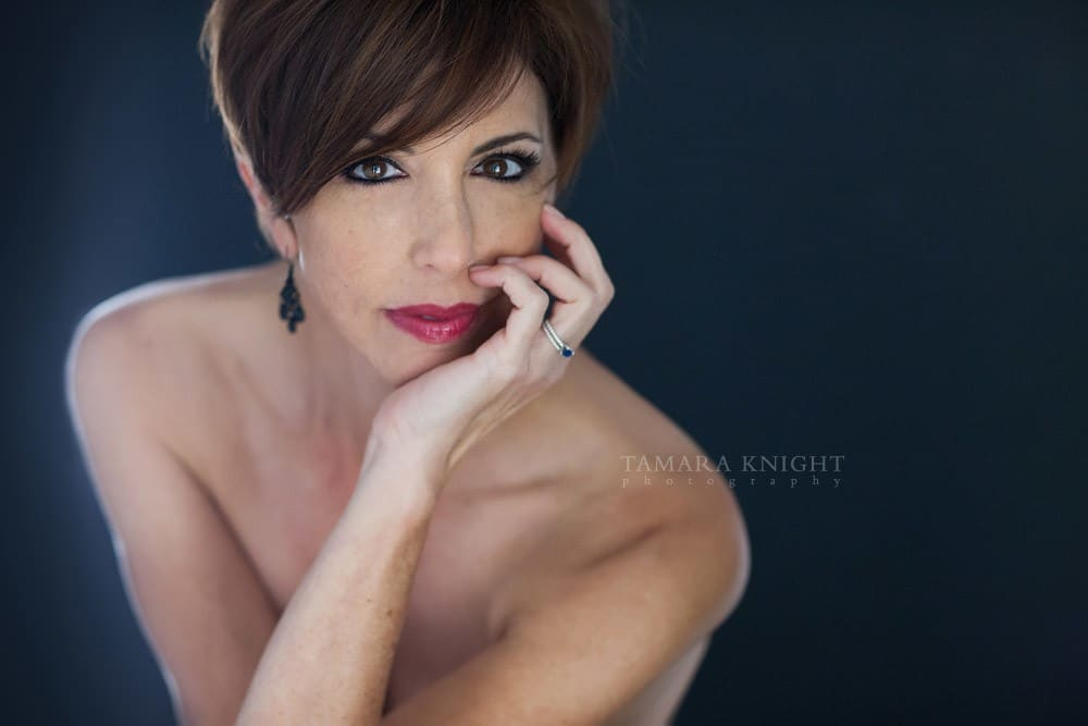 Woman with short brown hair  by Orlando Beauty Photographer