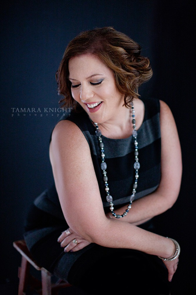 April Cox laughing headshot by Tamara Knight Personal Branding Photographer