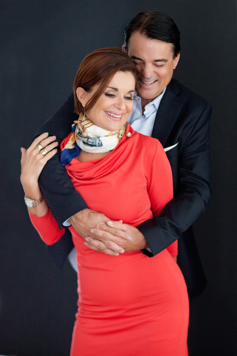 Couple hugging and laughing by Orlando photographer